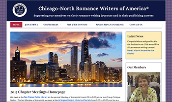 Chicago-North Romance Writers website design